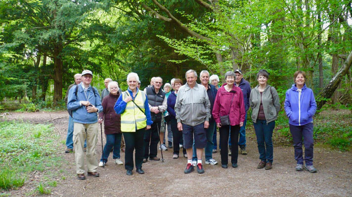 Margaret Oxenham with movers and shakers walking group